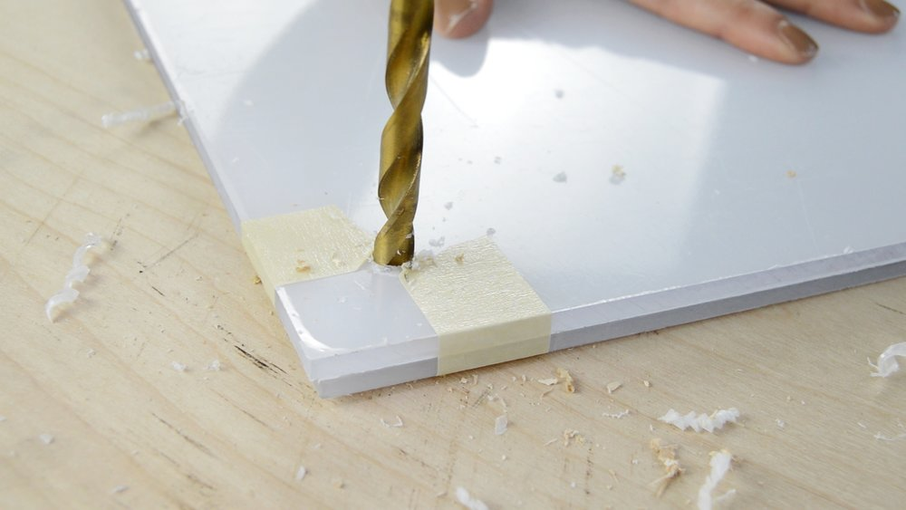 Drilling into 2 pieces of Acrylic to create a picture Frame