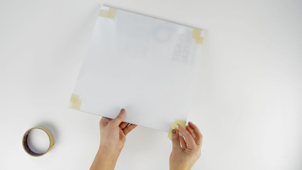 Taping two pieces of Acrylic together to Make a floating acrylic Frame