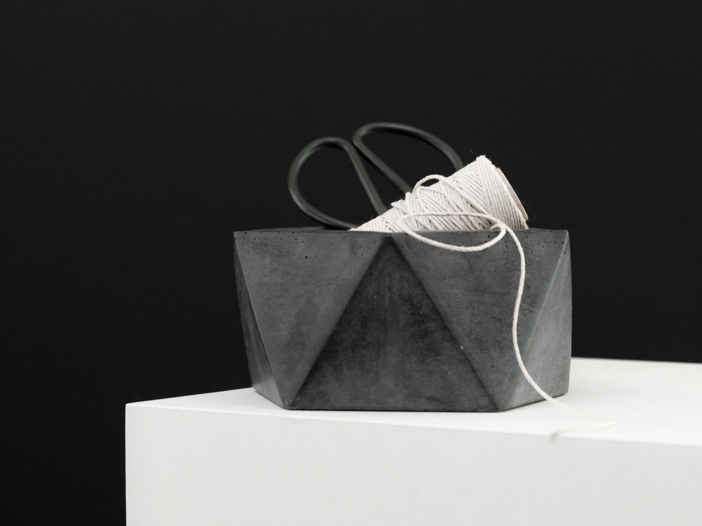 Modern Geometric Concrete Catchall Dish Made by The Savvy Heart