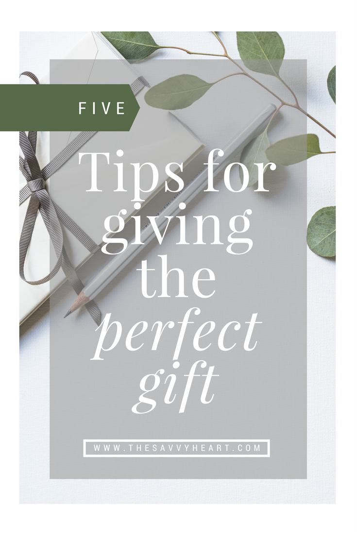 Five tips for better gift giving this holiday season by The Savvy heart.png