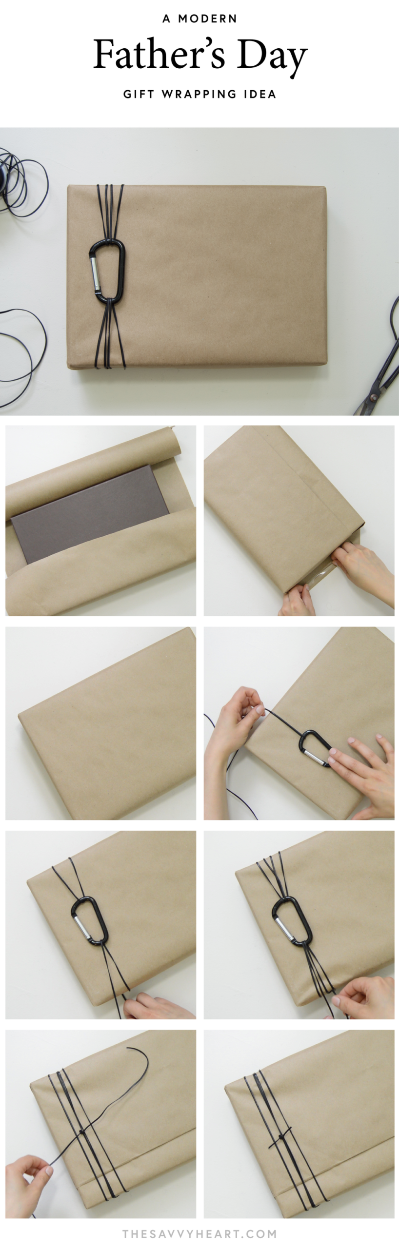 How To: A Simple and Modern Father's Day Gift Wrapping Idea