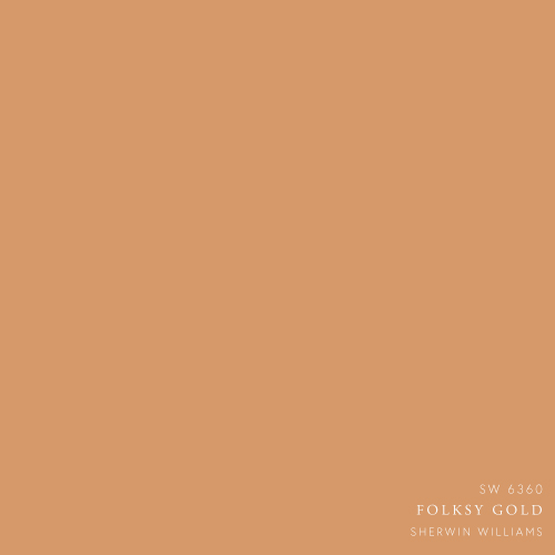 Folksy Gold Paint Color by Sherwin Williams