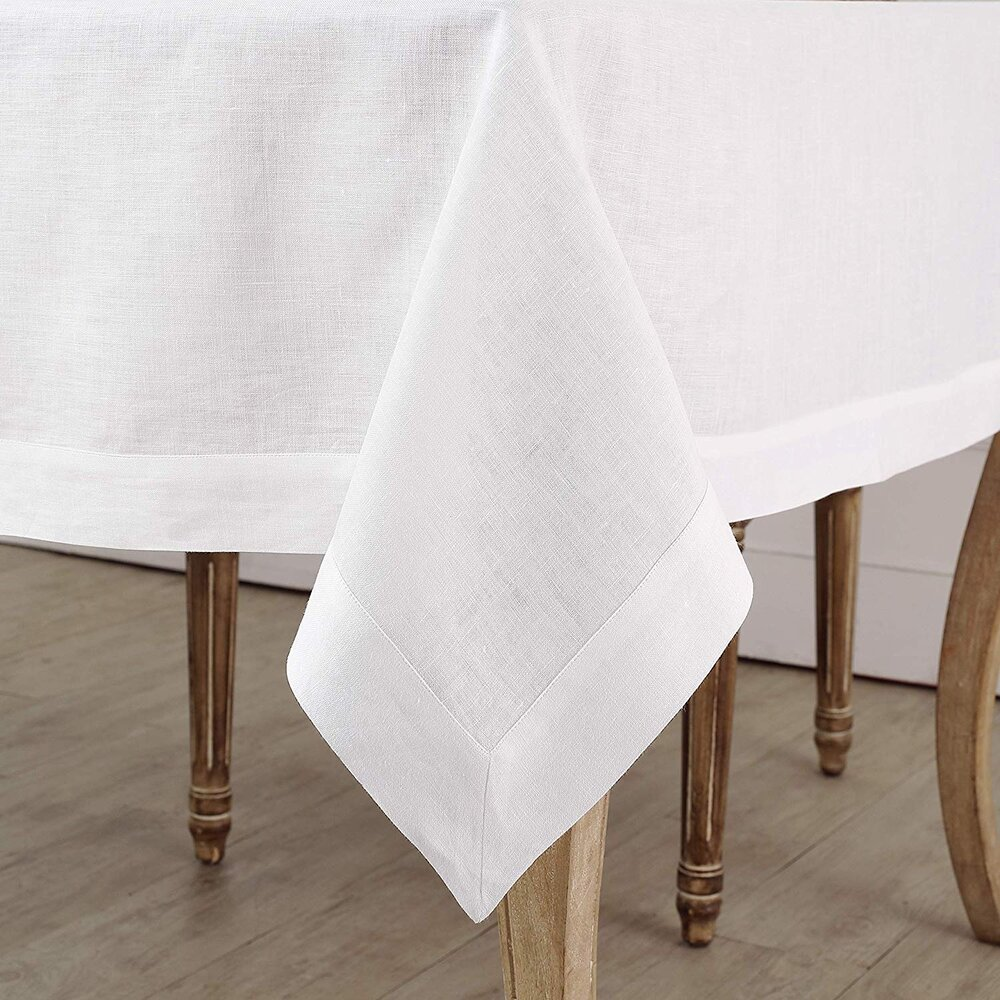 Classic white linen tablecloth for a simple and modern Thanksgiving and modern table setting.jpg