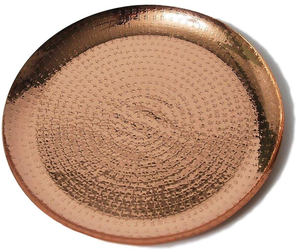 Copper Metallic 13 inch Decorative Charger Plate for a modern chic table setting.jpg