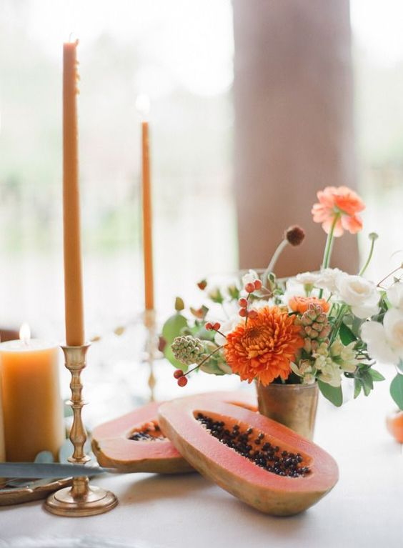 colorful fruit and simple table setting ideas by the savvy heart.jpg