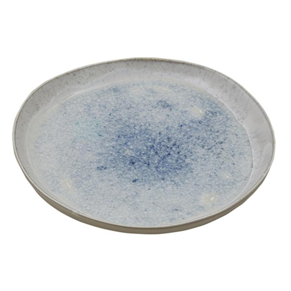 speckled blue and gray plates for a rustic modern holiday table setting idea.jpg
