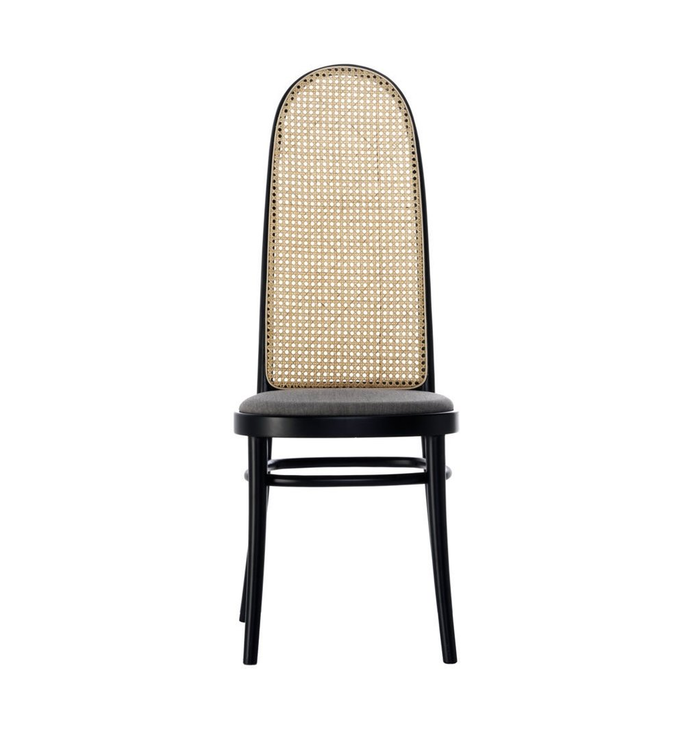 Morris Black Wood And Cane Rattan Back Dining Chair - Caned Furniture - Spring 2019 Trends
