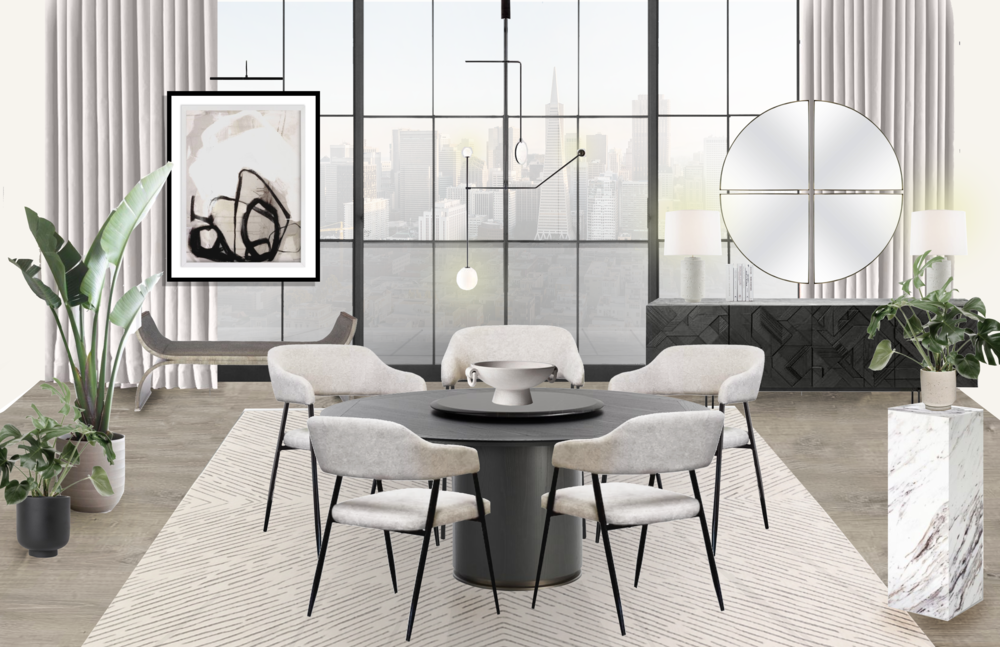 A Sculptural & Contemporary Dining Room eDesign with modern and feminine Accents.png