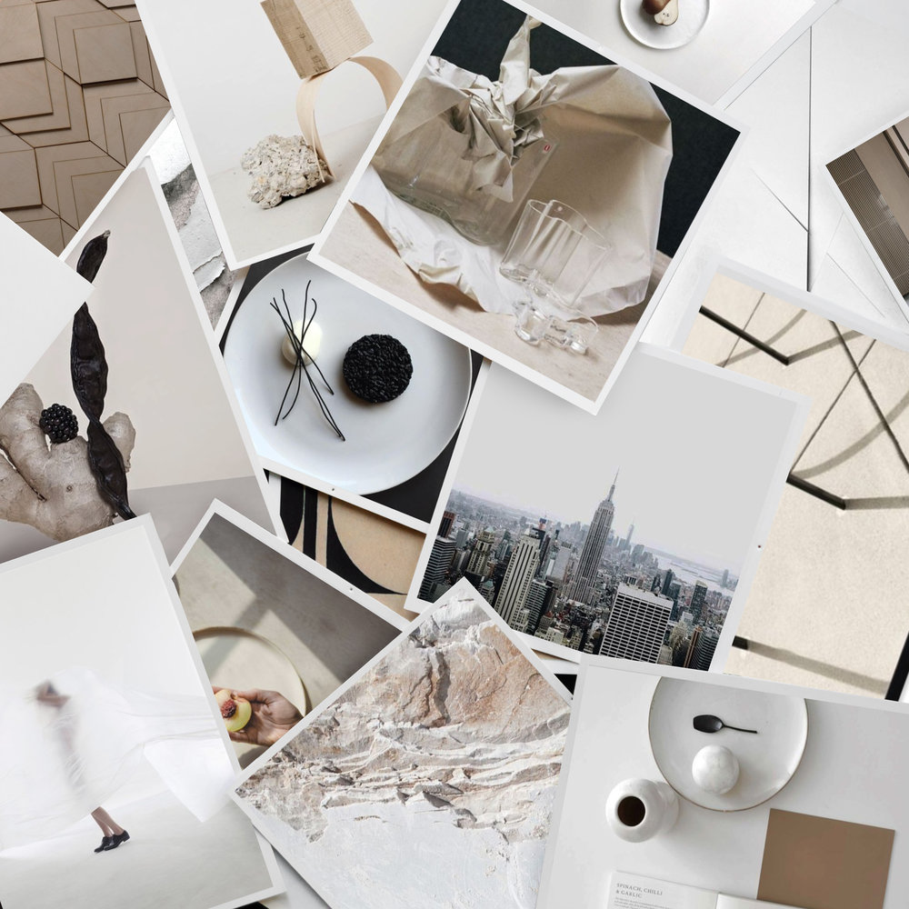 Neutral Sculptural and Contemporary Dining Room Mood Board -Interior Design by The Savvy Heart in Seattle