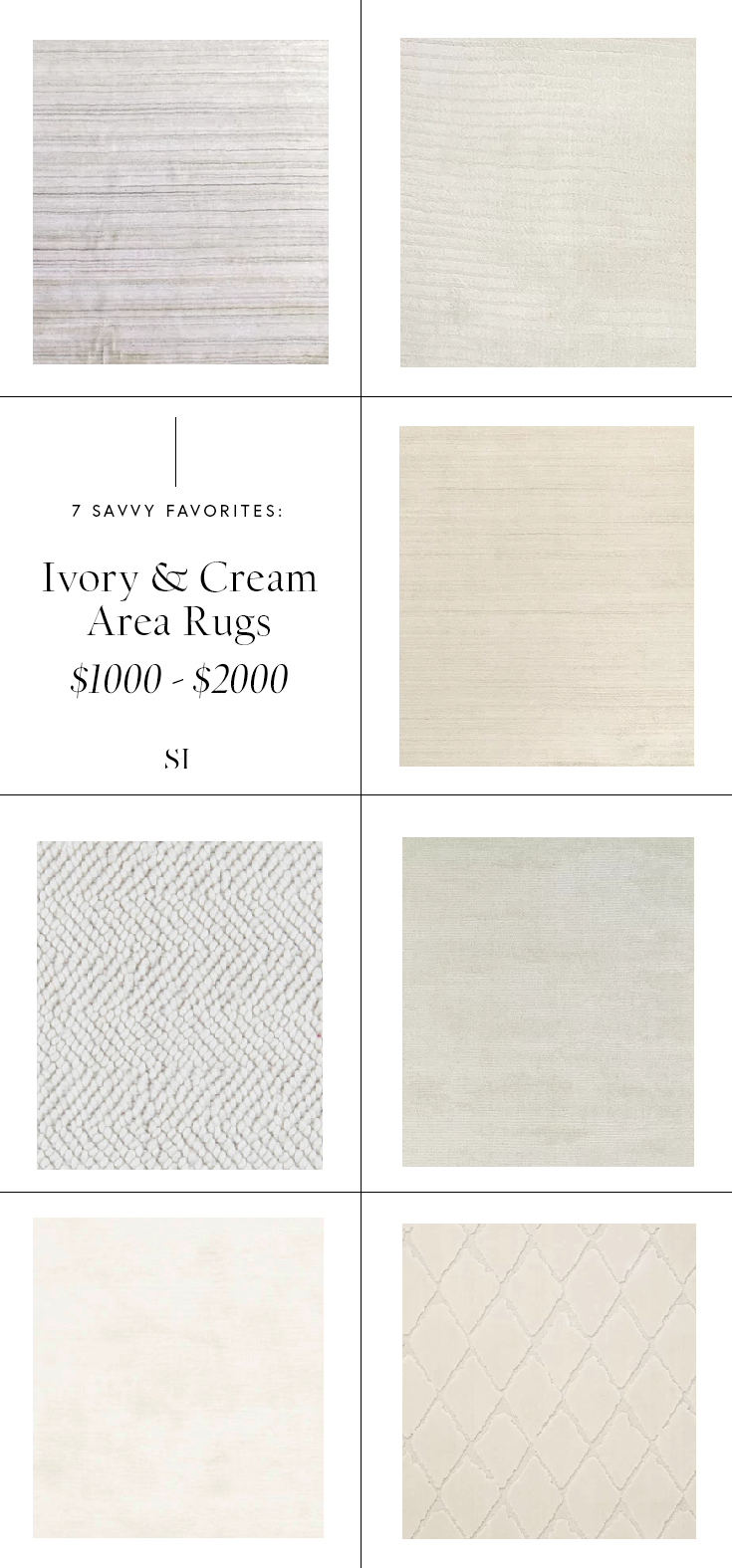 Interior Area Rugs that are minimal textured and modern from $1000 to $2000 by the savvy heart.png