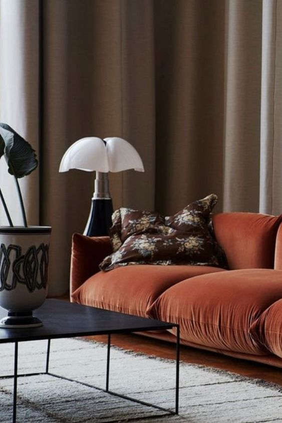 Interior design trends for fall- burnt amber orange by the savvy heart.jpg
