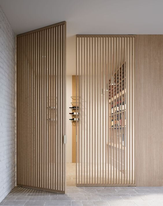 Interior design trends - wood slatted walls and doors - architectural accents and details.jpg