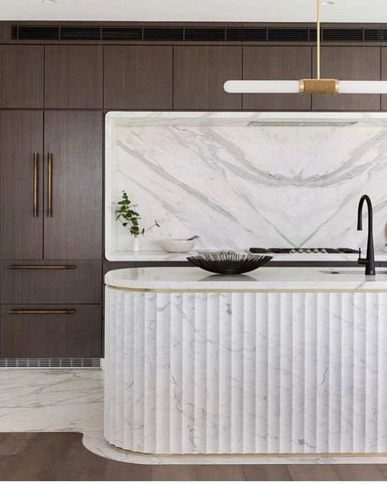 2020 Interior Design trends - Curved and rounded kitchen cabinetry and islands by the savvy heart interior design studio and blog based in seattle.jpg