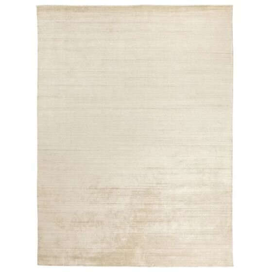8x10 Modern textured Exquisite Rugs Sanctuary Hand Woven Silk Light Beige Area Rug from Perigold.jpg