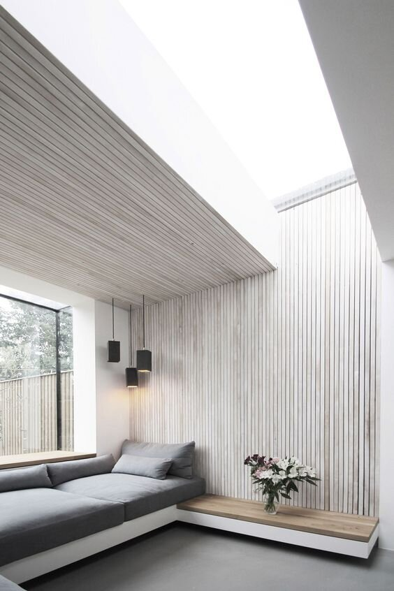 Bleached Textured Wood Wall - Timber Cladding - 2020 Interior Design and decor Trends by The Savvy Heart Interior Design Studio.jpg