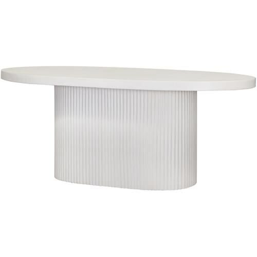 Contemporary and Modern Oval Concrete Dining Table with Scallop Ribbed Detail Texture - 2020 Interior Decor and Design Trends - The Savvy heart.jpg