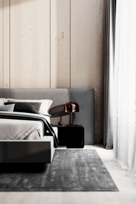 Minimalist extended extra long headboard that reaches wall to wall - 2020 inteior design and home decor trends - the savvy heart interior design studio and blog based in seattle.jpg