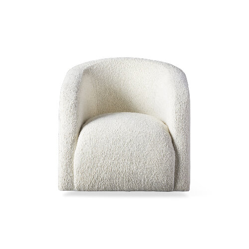White armchair - modern home furniture in white and cream