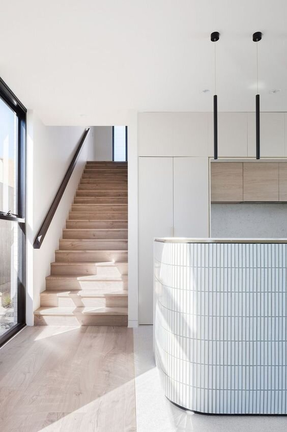 Modern 2020 Interior Design Trends - Curved Kitchen Islands and cabinetry by The Savvy heart Interior Design Studio.jpg