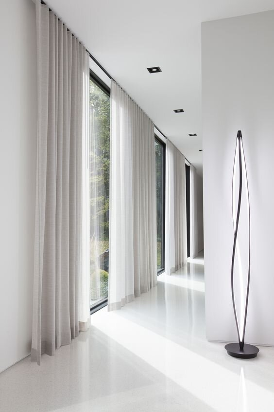 Modern and contemporary ripplefold curtains - different types of curtains and drapery panels by the savvy heart interior design studio and blog.jpg