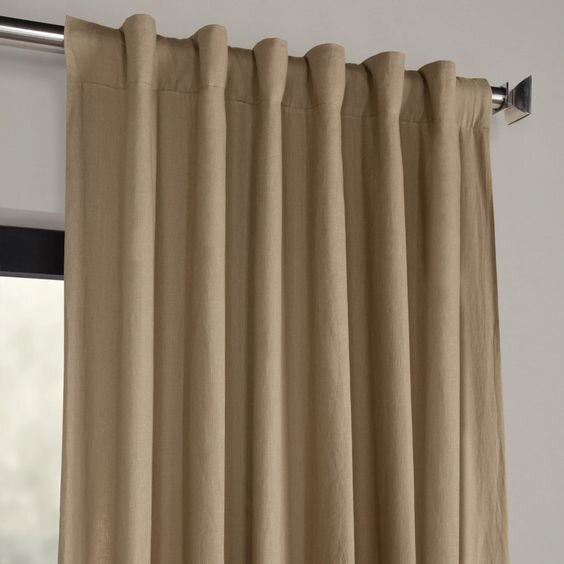 Modern flax linen curtains with pole pocket- different types of drapery styles by the savvy heart.jpg