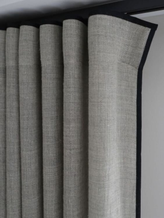 Modern ripplefold drapery curtains - Different types and styles of curtains by the savvy heart interior design studio and blog.jpg