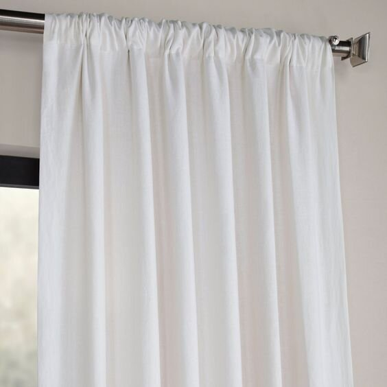 crisp white modern curtains with pole pocket top - contemporary curtains for a simple and minimal living room.jpg