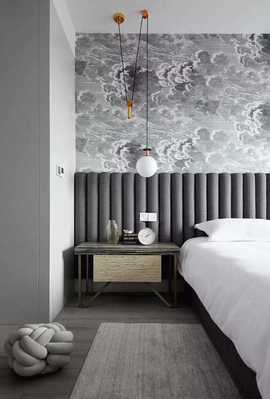 extra long wall-to-wall upholstered headboard bed frame - 2020 Interior Design and Home Decor Trends - The Savvy Heart Creative Interior Design Studio and blog.jpg