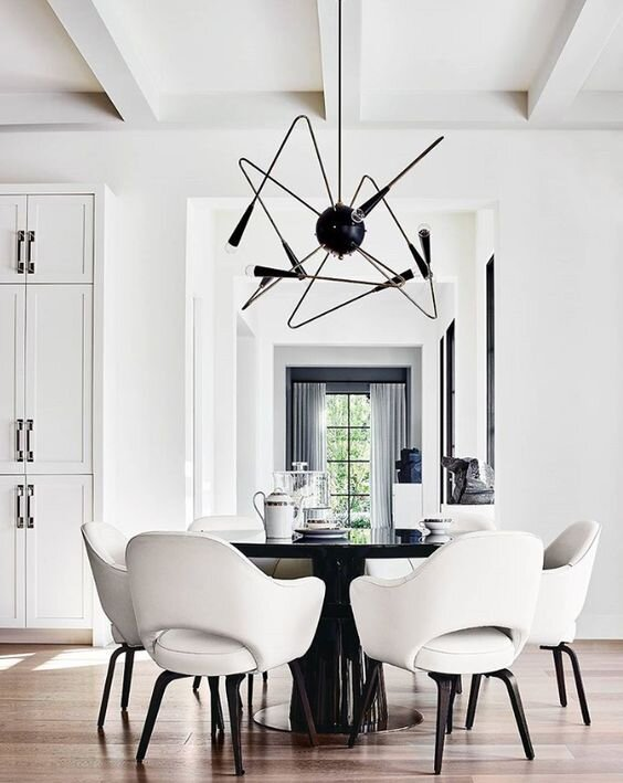 Modern and chic dining table and chair combinations for a contemporary home by the savvy heart.jpg