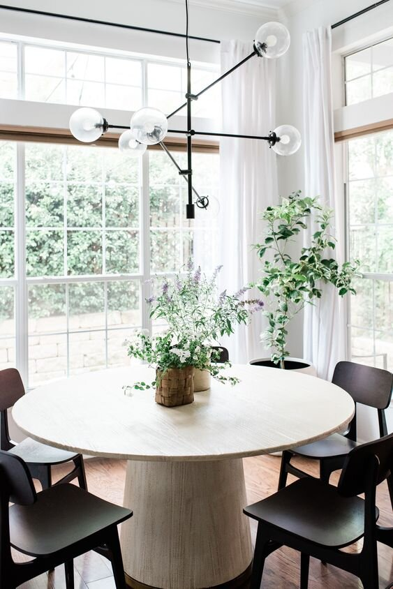 Seven round dining table and chair combinations for a modern and contemporary home.jpg