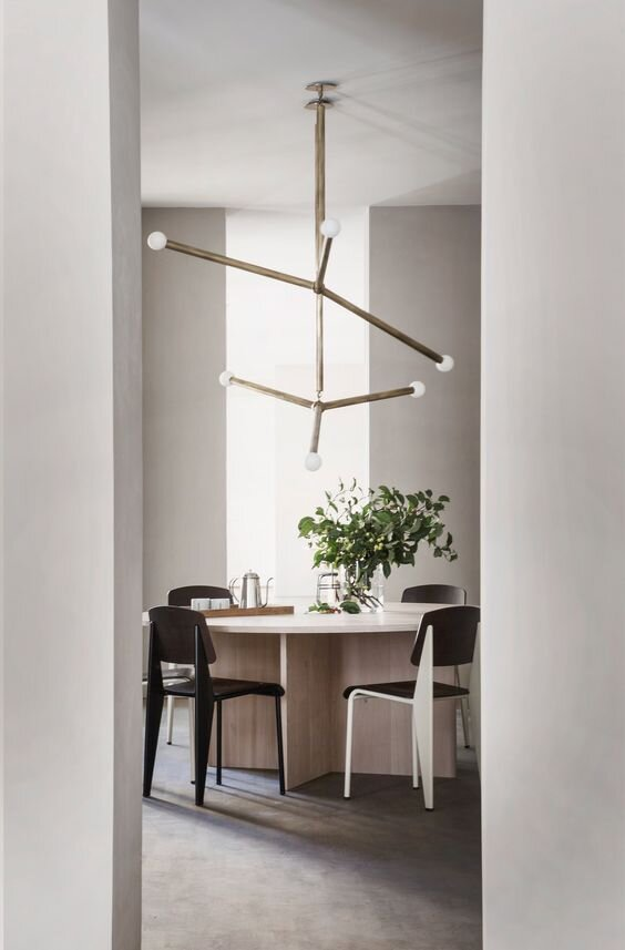 Simple and Modern Round Dining Table and Chair combinations.jpg