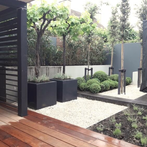 Modern front side yard landscaping inspiration for our makeover by the savvy heart interior design studio and blog.jpg