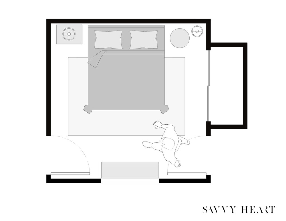 12-x-12-square-bedroom-floor-plan-layout-idea-with-two-doorways-and-closet-by-the-savvy-heart