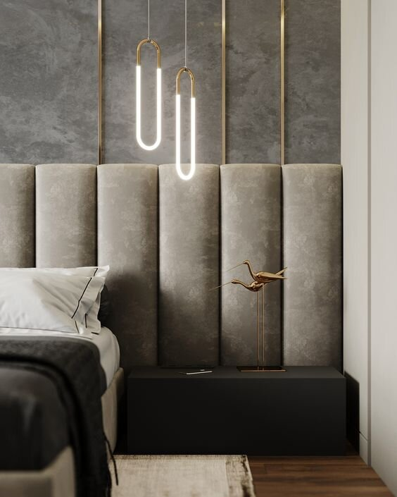 Channeled tufted headboard - extra wide and extended beds- interior design trends by the savvy heart.jpg
