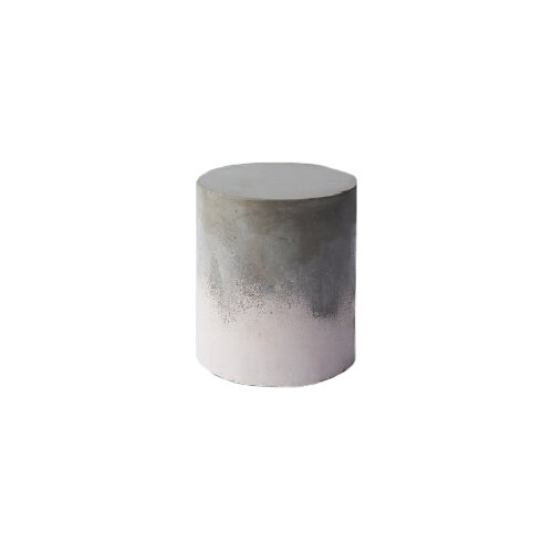Round-ombre-concrete-stool-or-bench-for-outdoor-patio-dining