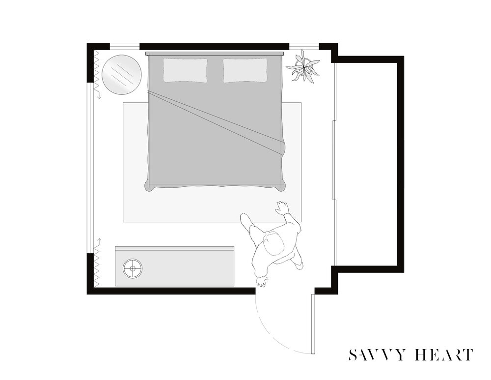 Square-bedroom-layout-ideas-with-floor-plans-by-the-savvy-heart-interior-design-studio