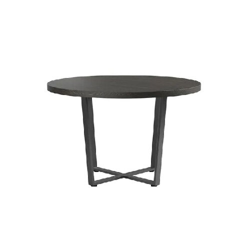 Round Modern Black Oak dining table for under $500 - Best and top rated dining tables