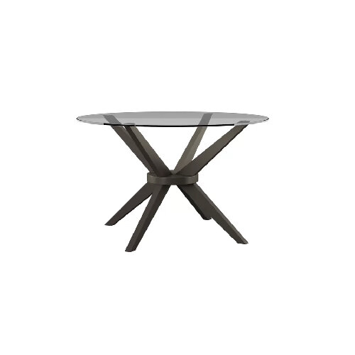 Contemporary Round Glass and Wood dining tables for under $500 - the savvy heart modern interior design studio and blog