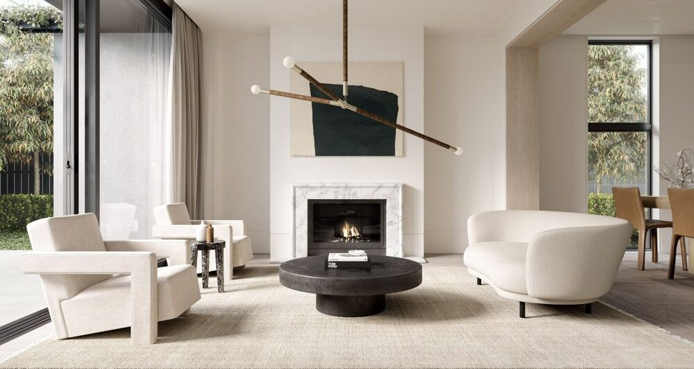 5 Contemporary Living Rooms That'll Make You Rethink White & Cream