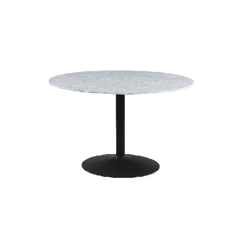 Modern black and white round dining room table - under $1000