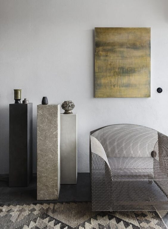 Modern and contemporary pedestal Plinths for decorating and interior styling - the savvy heart roundup.jpg