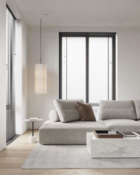 Modern and contemporary warm white living room ideas and inspiration - interior design blog by the savvy heart.jpg