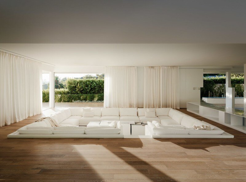 Modern sunken sofas for lounging - Contemporary living room ideas by the savvy heart.jpeg