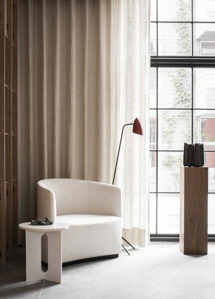 Modern wood pedestal plinth table to display sculptural art - get the designer look.jpg