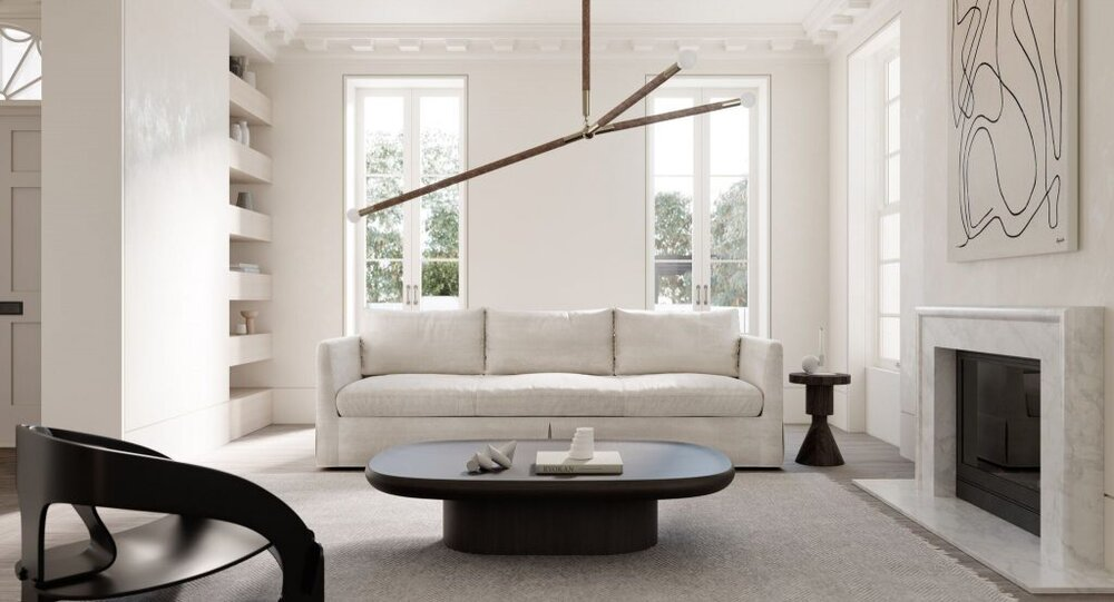 Timeless and contemporary warm white living room - interior design blog by the savvy heart.jpg