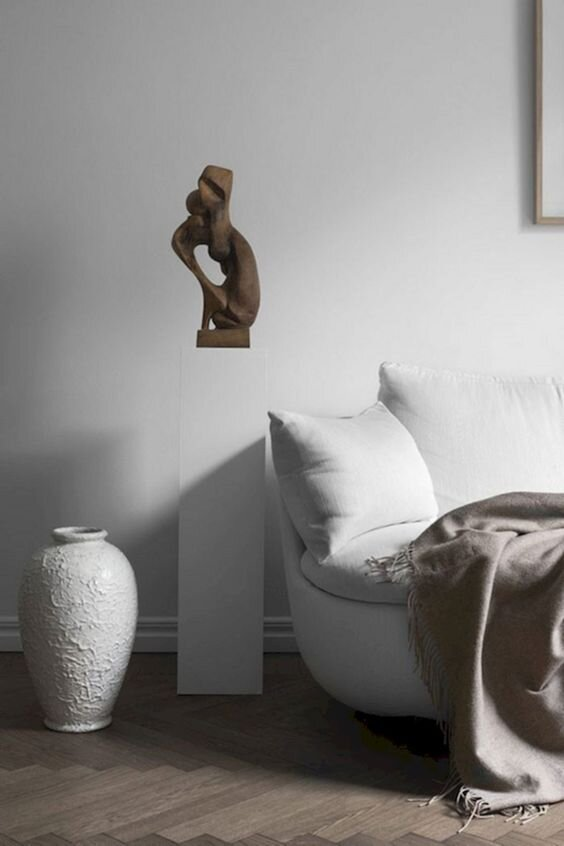 ways to style and decorate a modern pedestal plinth - the savvy heart.jpg