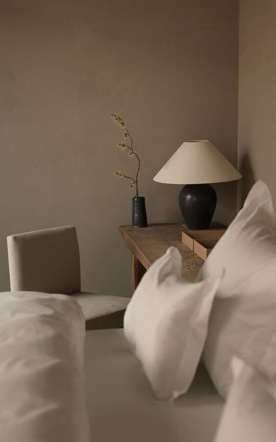 White empire style lampshade with a timeless table lamp - Tapered, empire and coolie style lamp shades