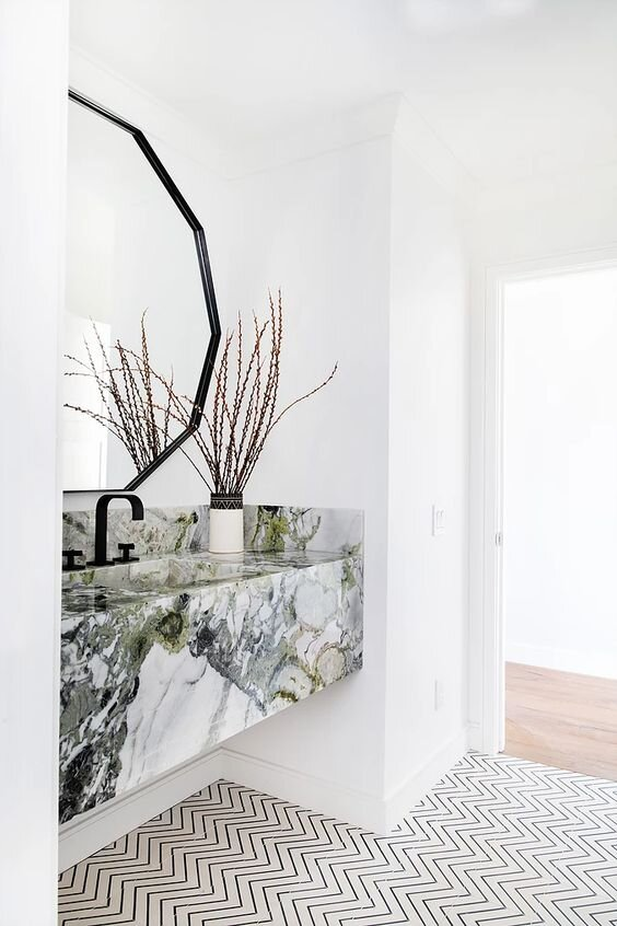 5 Modern and Contemporary Floating Marble Bathroom Vanities - the savvy heart Interior design and Decor Blog.jpg